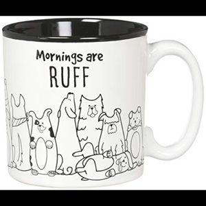 🖤$4🖤Mornings are Ruff Ceramic Coffee Mug, 13 Oz